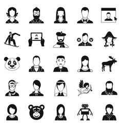 nation icons set simple style vector image vector image