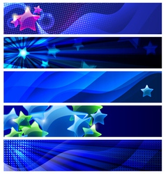 stars banners vector image vector image