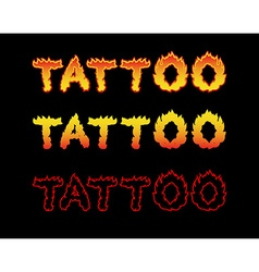Tattoo fire letters Flame lettering Comics font vector image vector image