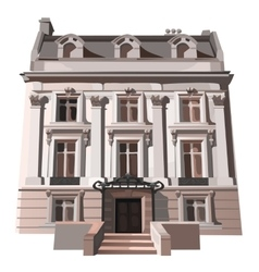 Three-storey house in european or american style vector