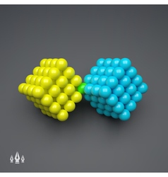 Cube 3d Spheres Composition Technology Style vector image vector image