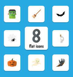 flat icon festival set of spinner superstition vector image