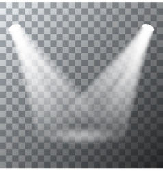 modern spotlights scene with light effects vector image