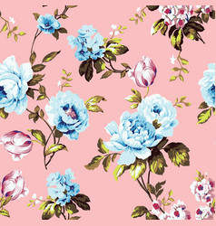 shabby chic vintage roses seamless pattern vector image