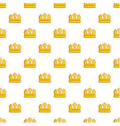 viscount crown pattern seamless vector image
