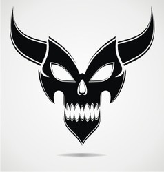 Black demon mask vector