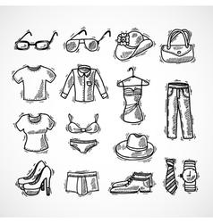 Fashion Icons Set vector image