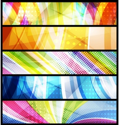 five abstract banners vector image vector image