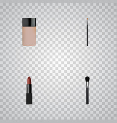 realistic pomade beauty accessory brow makeup vector image vector image