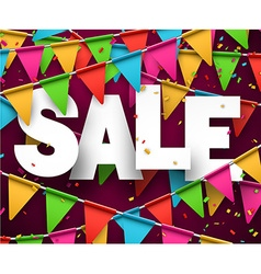 Sale celebration background vector image