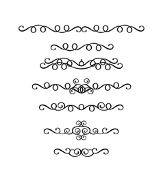 set of vintage ornaments in Victorian style vector image