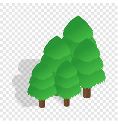 trees isometric icon vector image