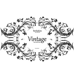 vintage frame for your design vector image vector image