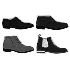 a set of shoes classical gray shoes eps 10 vector image