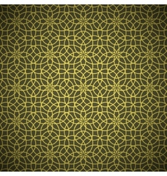 Abstract forged golden flower pattern vector