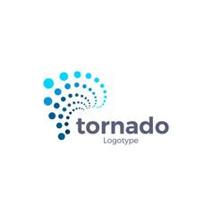 abstract hurricane symbol tornado blue points vector image