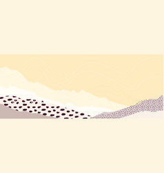 abstract mountain landscape warm pastel art vector image
