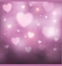 abstract romantic pink background with hearts vector image