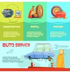 Auto Service Infographic Set vector image