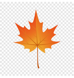 autumn maple leaf icon flat style vector image