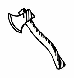 Axe freehand vector