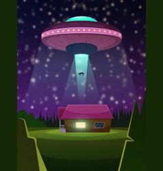 background of ufo vector image