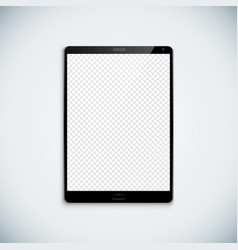 blank tablet template mockup vector image