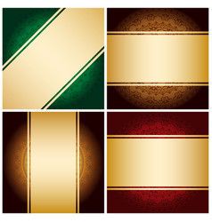 Bright golden ribbons on vintage backgrounds vector