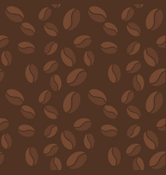 brown seamless pattern with coffee beans vector image