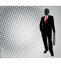 businessman on abstract background vector image
