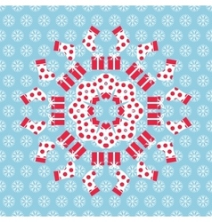 Christmas kaleidoscope vector