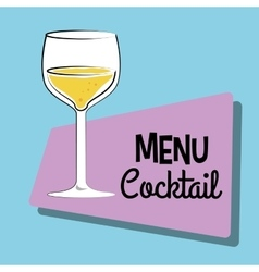 Cocktail bar menu vector