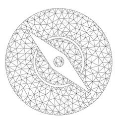 Compass polygonal frame mesh vector