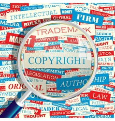 COPYRIGHT vector image
