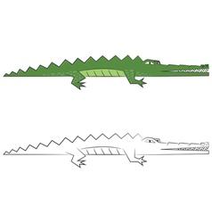 Crocodiles vector image