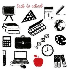 Doodle school images vector