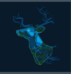 electronic deer vector image