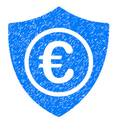 Euro protection grunge icon vector