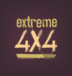 extreme lettering image vector image