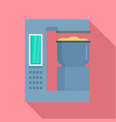 Factory bakery equipment icon flat style vector