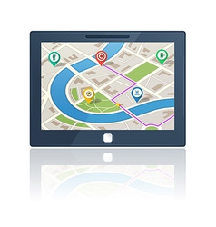 gps navigation device vector image