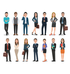 group business men and business women vector image