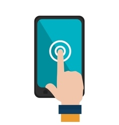 hand human with smartphone vector image
