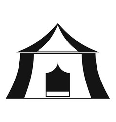 Hiking pavilion icon simple style vector