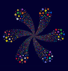 Home keyhole cycle flower cluster vector