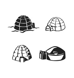 igloo icon set simple style vector image