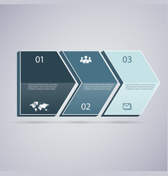 infographic 3d dark green arrows vector image