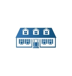 Isolated abstract blue color house contour logo vector