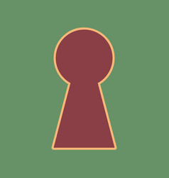 Keyhole sign cordovan icon vector