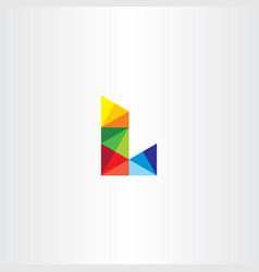 letter l colorful triangles logo icon vector image